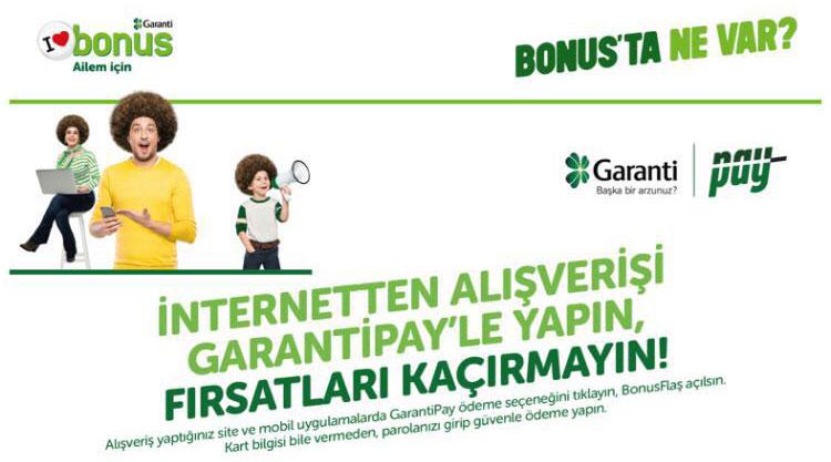 GarantiPay ile 15 TL Bonus