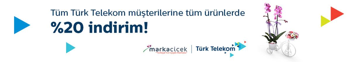 Türk Telekom abonelerine %20 indirimli çiçek kampanyası